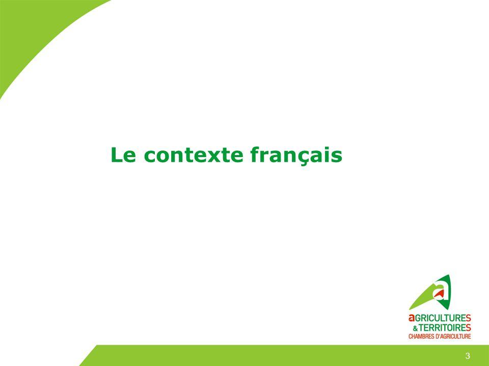 Lagriculture française 490 000 exploitations agricoles (2010) Surface moyenne : 55 hectares (2010) Des régions agricoles spécialisées