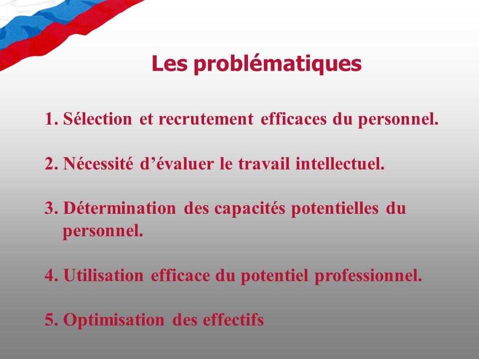 1. Sélection et recrutement efficaces du personnel.