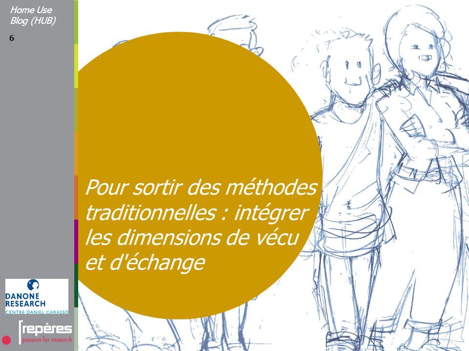 6 Pour sortir des méthodes traditionnelles : intégrer les dimensions de vécu et d échange Home Use Blog (HUB)