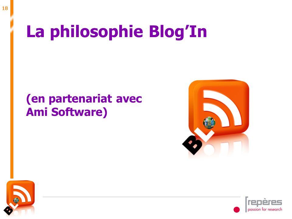 18 Juin 2007 La philosophie BlogIn (en partenariat avec Ami Software)