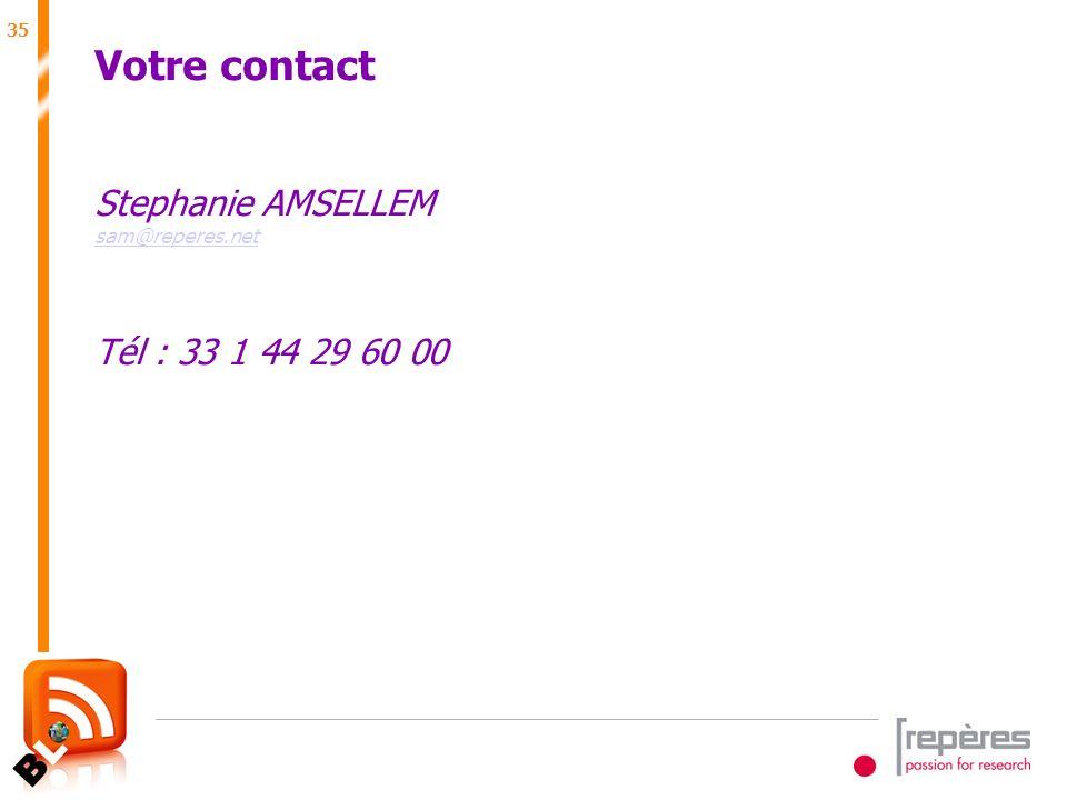 35 Juin 2007 Votre contact Stephanie AMSELLEM sam@reperes.net Tél : 33 1 44 29 60 00