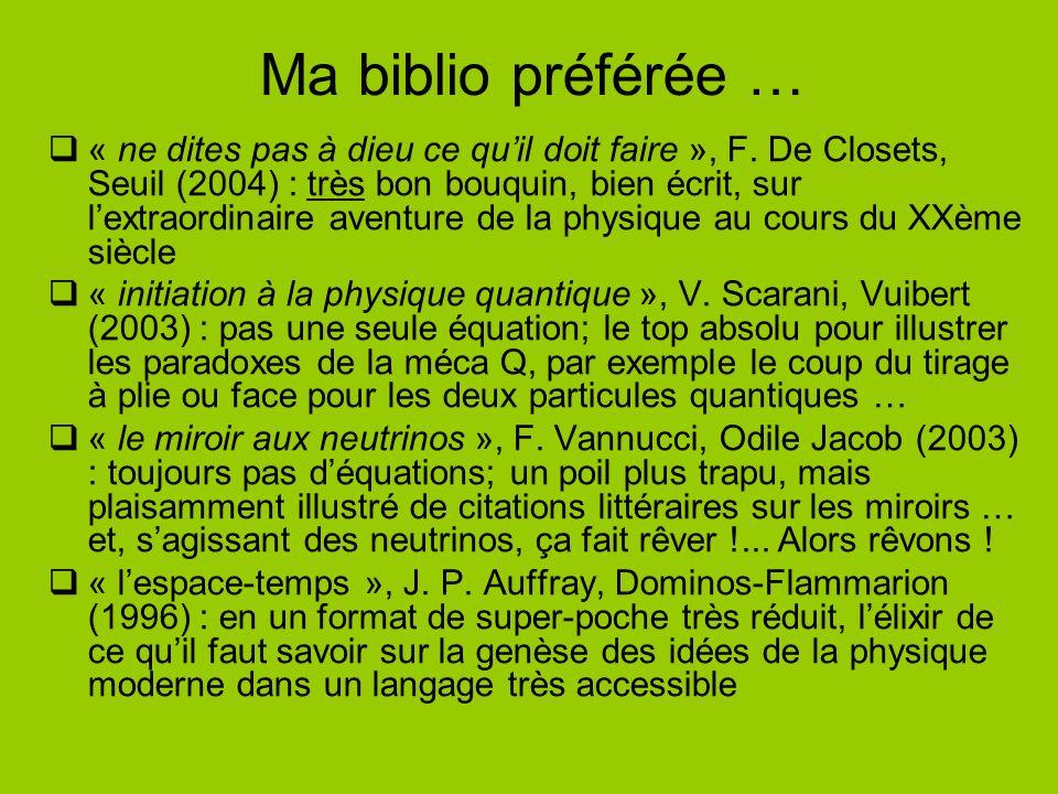 Ma biblio préférée … « ne dites pas à dieu ce quil doit faire », F.