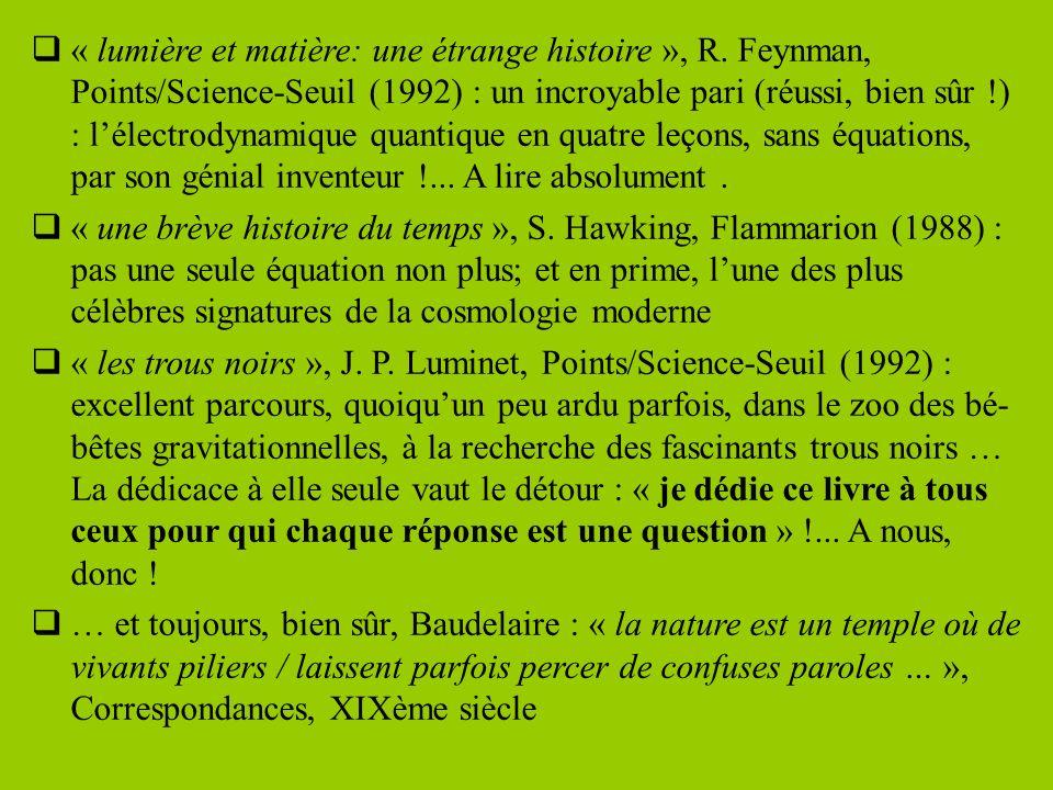« lumière et matière: une étrange histoire », R.