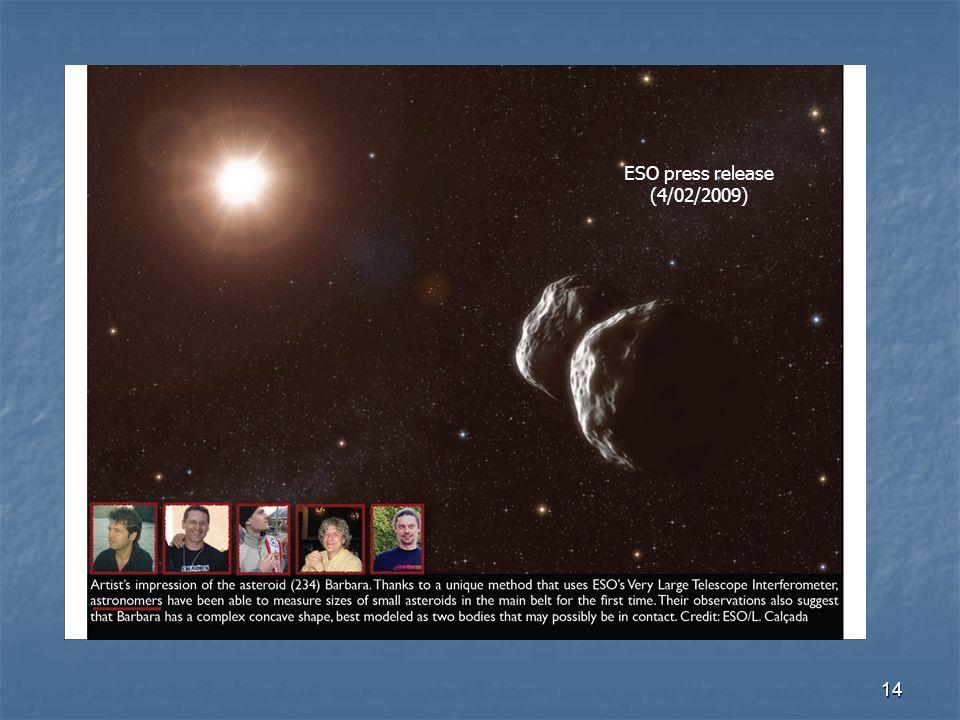 14 ESO press release (4/02/2009)