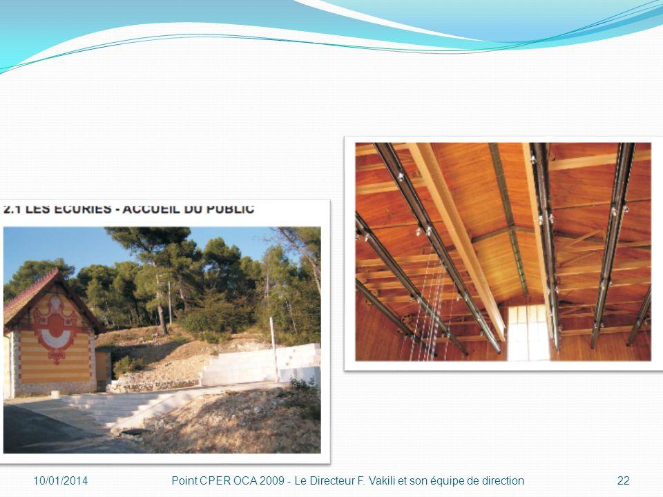 10/01/201422Point CPER OCA 2009 - Le Directeur F. Vakili et son équipe de direction