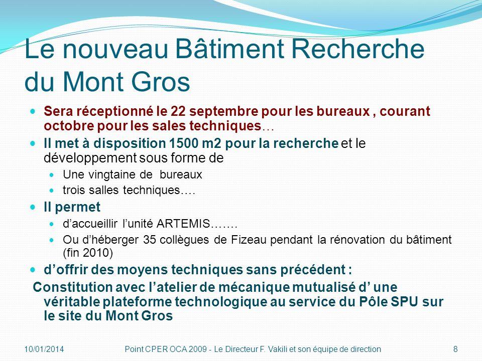 Le nouveau Bâtiment Recherche du Mont Gros Sera réceptionné le 22 septembre pour les bureaux, courant octobre pour les sales techniques… Il met à disp