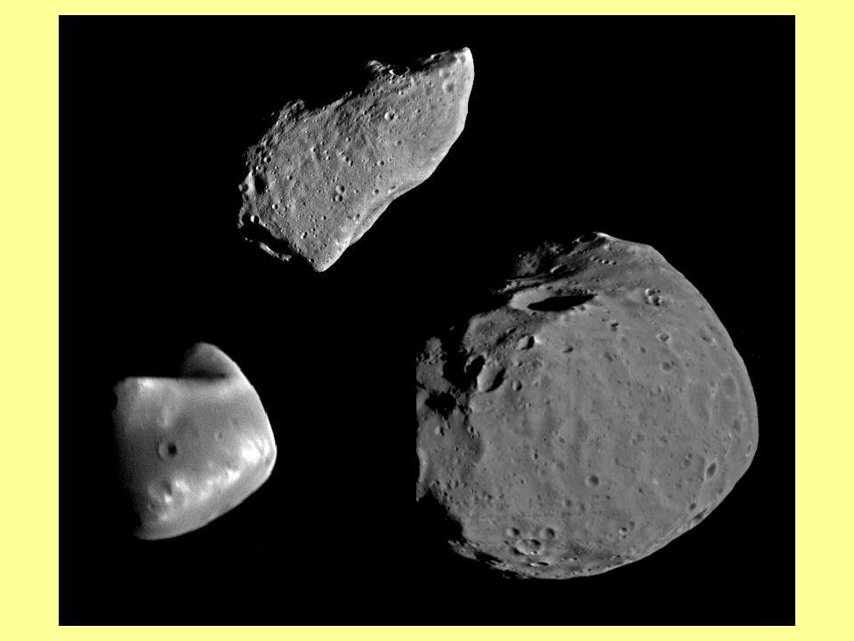 Les Satellites des Planètes Mercure et Vénus nont pas de satellite. La Terre a un satellite LA LUNE ( R = 1740 km, ) Mars a 2 satellites PHOBOS ( R =1
