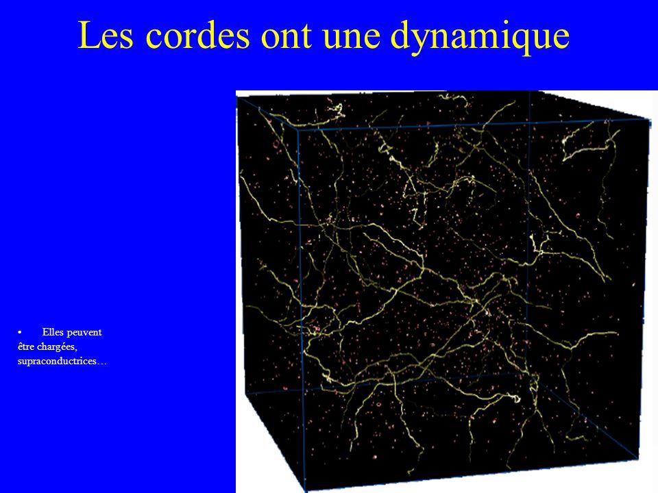 Les cordes ont une dynamique Elles peuvent être chargées, supraconductrices…