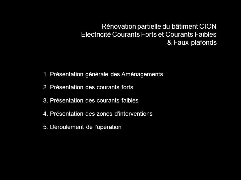 1. Présentation générale des Aménagements 2. Présentation des courants forts 3.