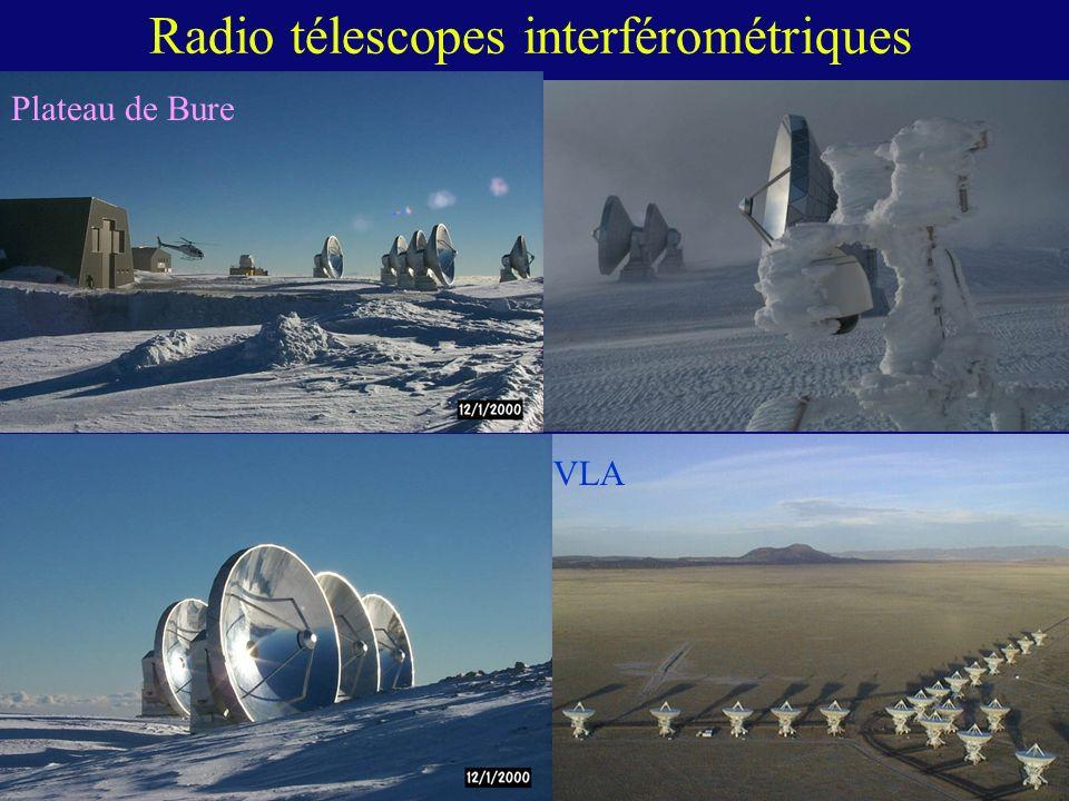 Radio télescopes interférométriques Plateau de Bure VLA