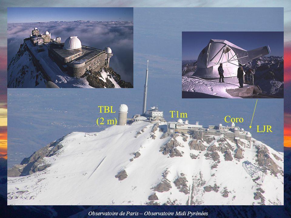 Observatoire de Paris – Observatoire Midi Pyrénées Polarimètre PDM2 à deux lames retardatrices (cristaux nématiques) S = I + Q cos 2 + sin 2 (U sin 1 - Vcos 1) Contrôle de température Signal 2 KHz en modulation damplitude Objectif dagrandissement