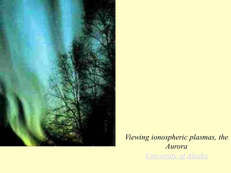 Viewing ionospheric plasmas, the Aurora University of Alaska University of Alaska