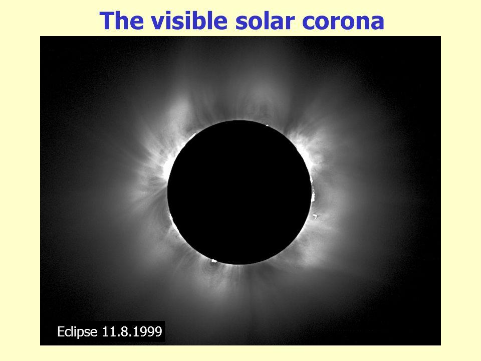 The visible solar corona Eclipse 11.8.1999