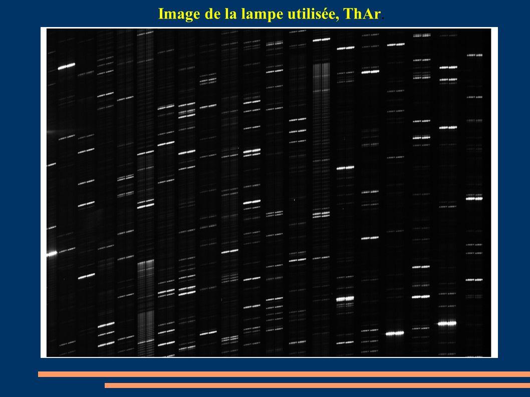 Image de la lampe utilisée, ThAr.