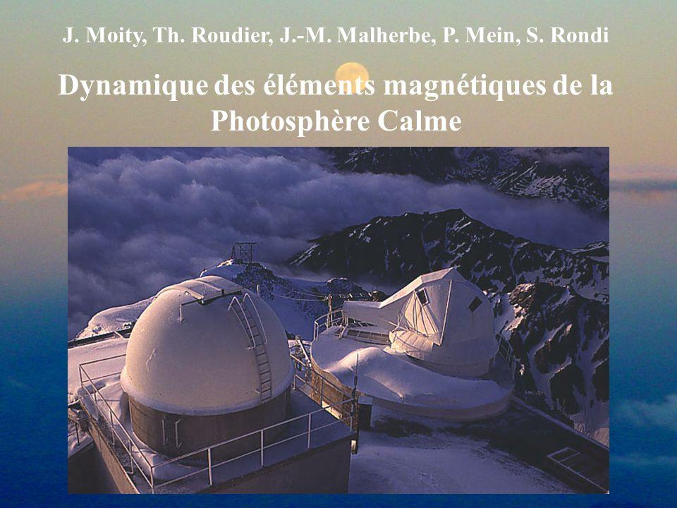 J. Moity, Th. Roudier, J.-M. Malherbe, P. Mein, S. Rondi Dynamique des éléments magnétiques de la Photosphère Calme