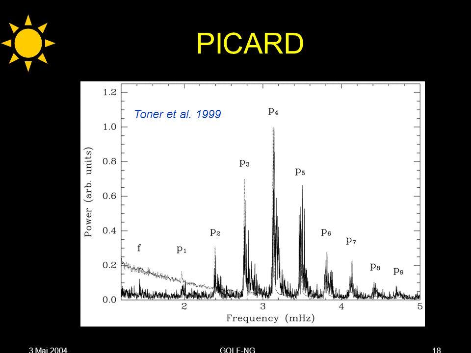 3 Mai 2004GOLF-NG18 PICARD Toner et al. 1999