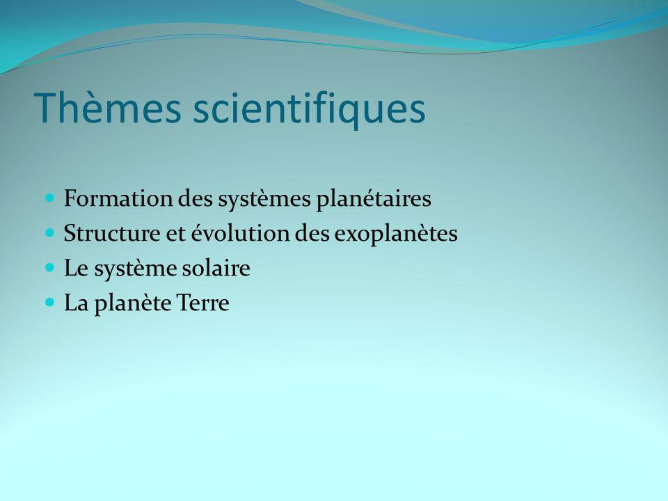 Formation des systèmes planétaires Mécanismes de formation Interaction disque-étoiles Interaction planètes-disque, migration