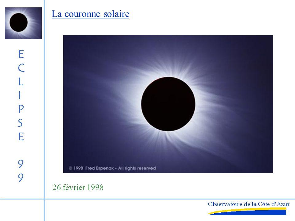 ECLIPSE99ECLIPSE99 Carte Générale de léclipse du 11 Août 1999 Eclipse au lever du Soleil Totalité coucher du Soleil Eclipse partielle pas déclipse Source : BDL/IMCCE