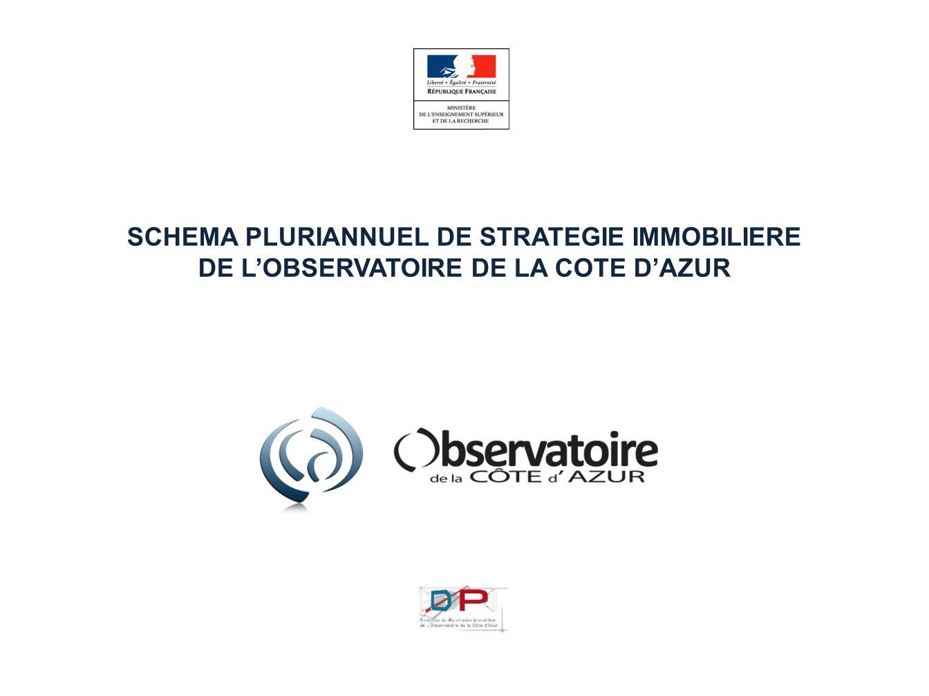SCHEMA PLURIANNUEL DE STRATEGIE IMMOBILIERE DE LOBSERVATOIRE DE LA COTE DAZUR DECEMBRE 2010