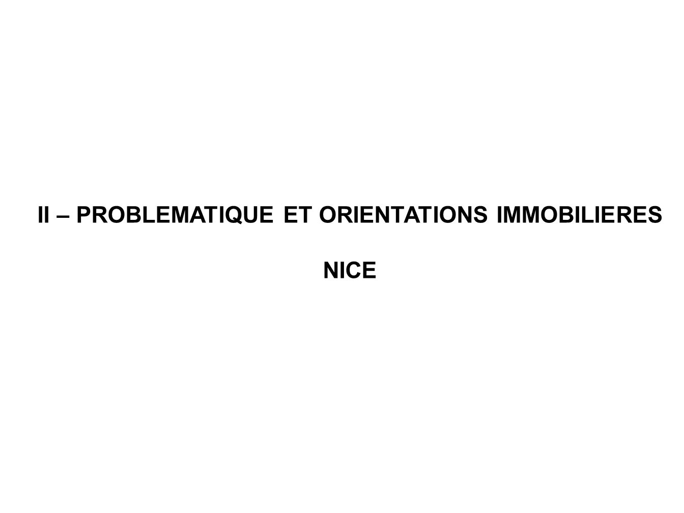 II – PROBLEMATIQUE ET ORIENTATIONS IMMOBILIERES NICE