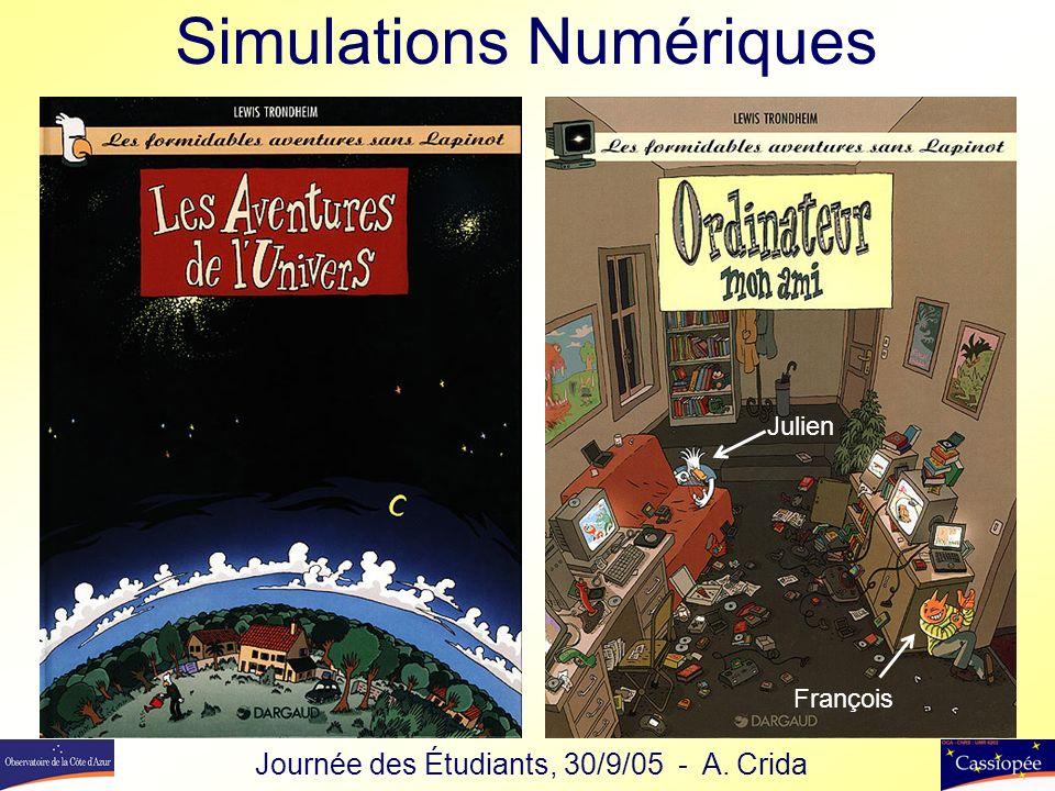 Simulations Numériques Julien François Journée des Étudiants, 30/9/05 - A. Crida