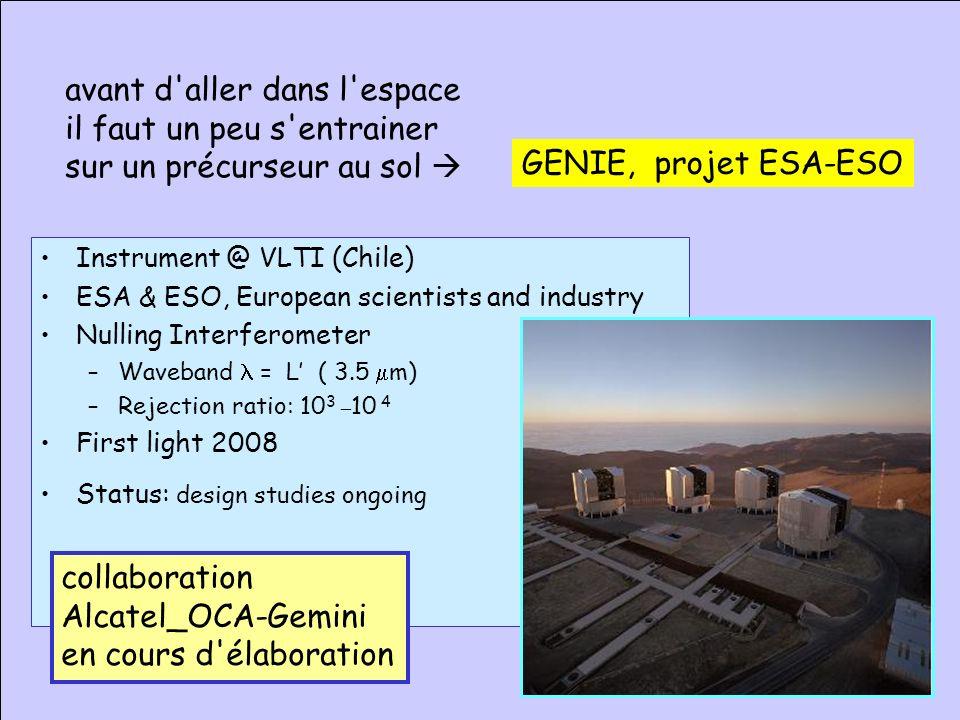 18 JS OCA 2005 Darwin / Pegase Yves Rabbia Gemini proposants Pégase Programme scientifique : 10 laboratoires, ~ 40 scientifiques impliqués IAS, LESIA,