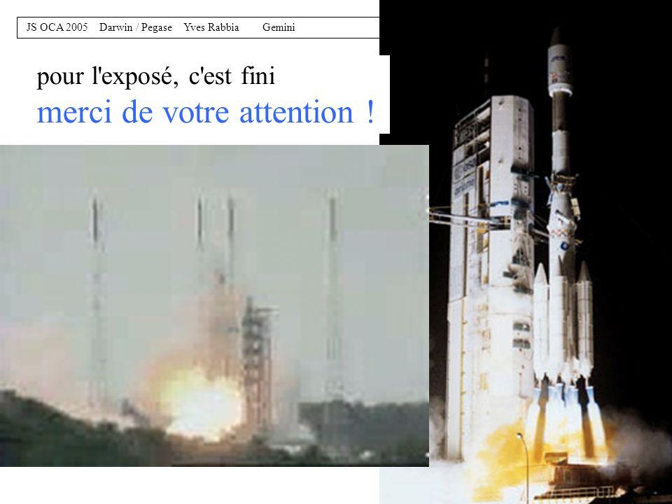 19 JS OCA 2005 Darwin / Pegase Yves Rabbia Gemini avant d'aller dans l'espace il faut un peu s'entrainer sur un précurseur au sol GENIE, projet ESA-ES