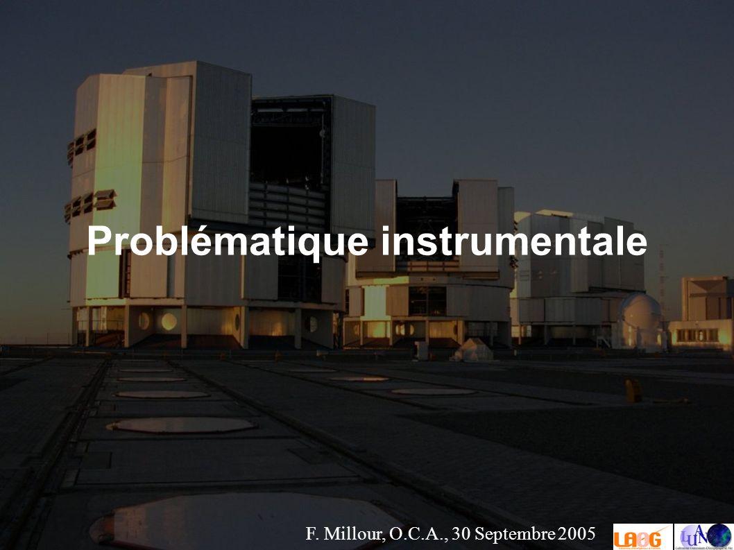 F. Millour, O.C.A., 30 Septembre 2005 Problématique instrumentale