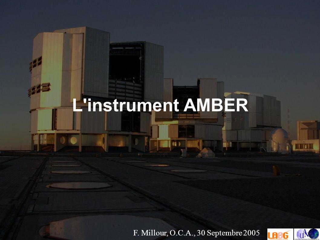 F. Millour, O.C.A., 30 Septembre 2005 L instrument AMBER