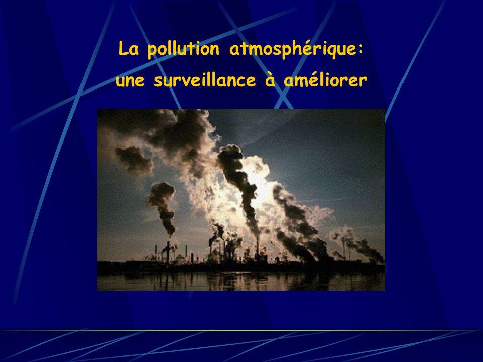 La pollution atmosphérique: une surveillance à améliorer