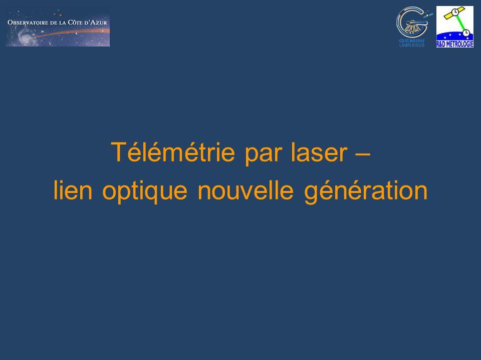 Nice, 30/09/2005Patrick Vrancken: Télémétrie par laser – lien optique nouvelle génération 1 Télémétrie par laser – lien optique nouvelle génération