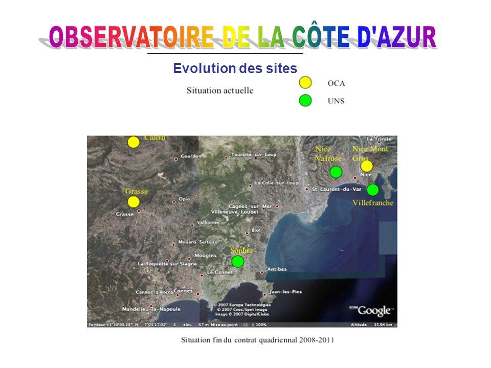Calendrier suite 2009 Début des travaux du bâtiment Fizeau Début des travaux de la deuxième tranche « Observatorium » ( CPER 2007-2013) Trouver un nou
