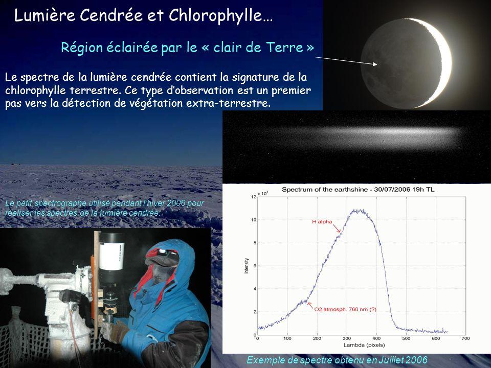 Lumière Cendrée et Chlorophylle… Le petit spectrographe utilisé pendant lhiver 2006 pour réaliser les spectres de la lumière cendrée.