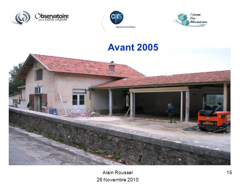 Alain Roussel 26 Novembre 2010 15 Avant 2005
