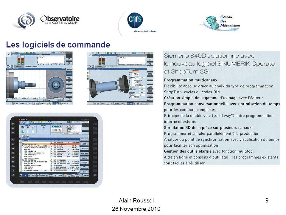 Les logiciels de commande Alain Roussel 26 Novembre 2010 9