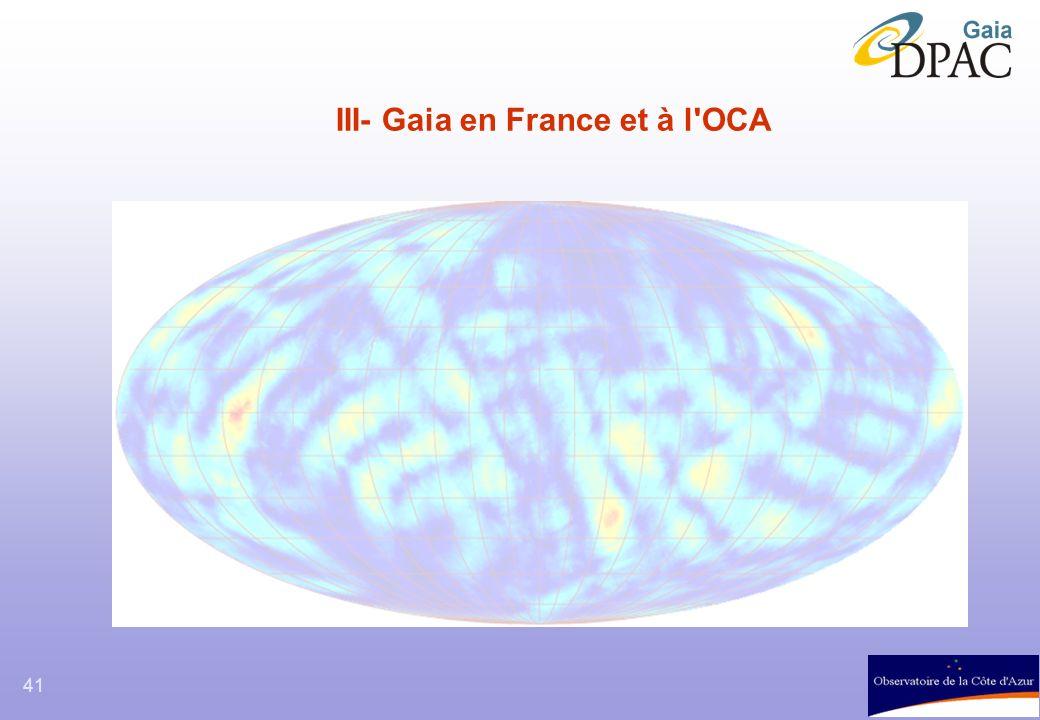 41 III- Gaia en France et à l'OCA