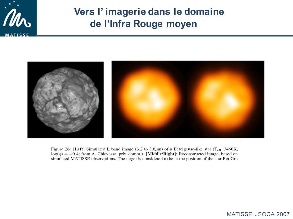MATISSE JSOCA 2007 Vers l imagerie dans le domaine de lInfra Rouge moyen