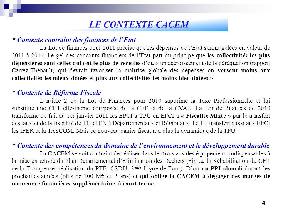 4 * Contexte contraint des finances de lEtat La Loi de finances pour 2011 précise que les dépenses de lEtat seront gelées en valeur de 2011 à 2014.
