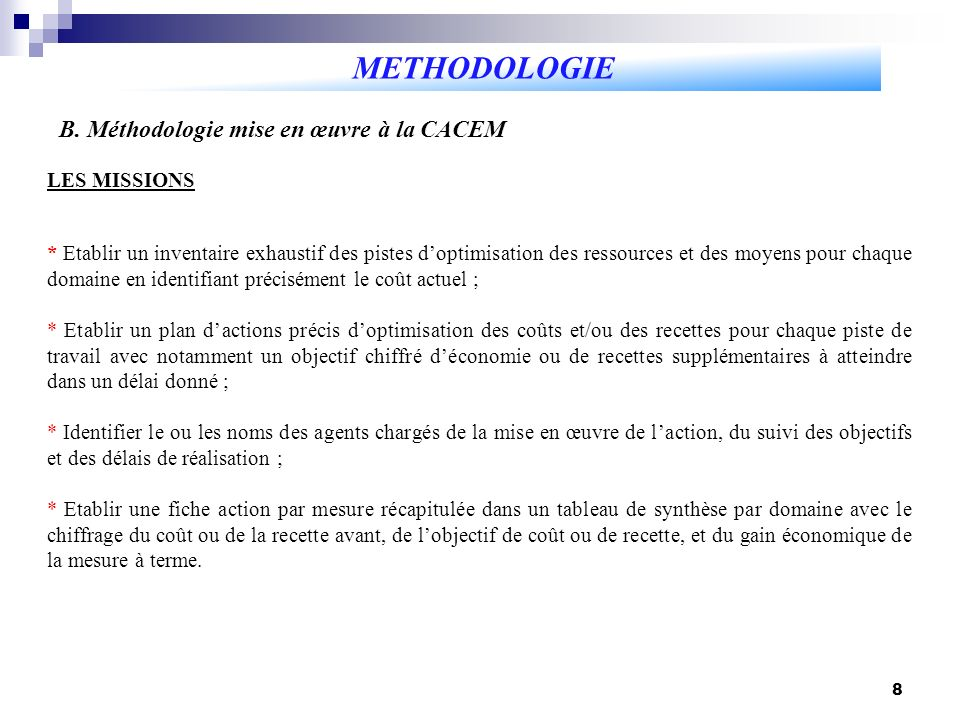 8 METHODOLOGIE B.