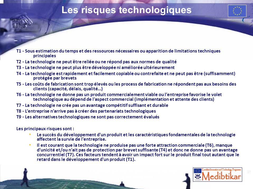 32 Les risques technologiques T1 - Sous estimation du temps et des ressources nécessaires ou apparition de limitations techniques principales T2 - La