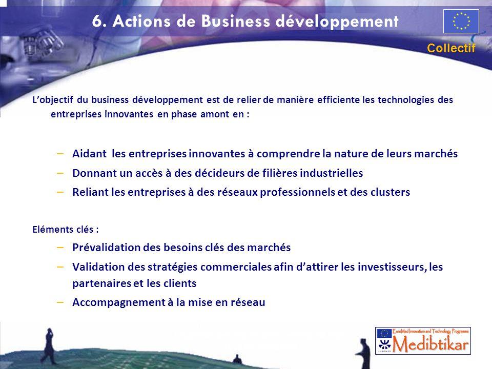 La gestion des risques dans lentreprise High Tech de croissance 66 6. Actions de Business développement Lobjectif du business développement est de rel