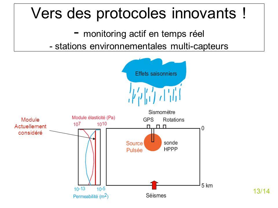 Vers des protocoles innovants ! - monitoring actif en temps réel - stations environnementales multi-capteurs Module Actuellement considéré 13/14