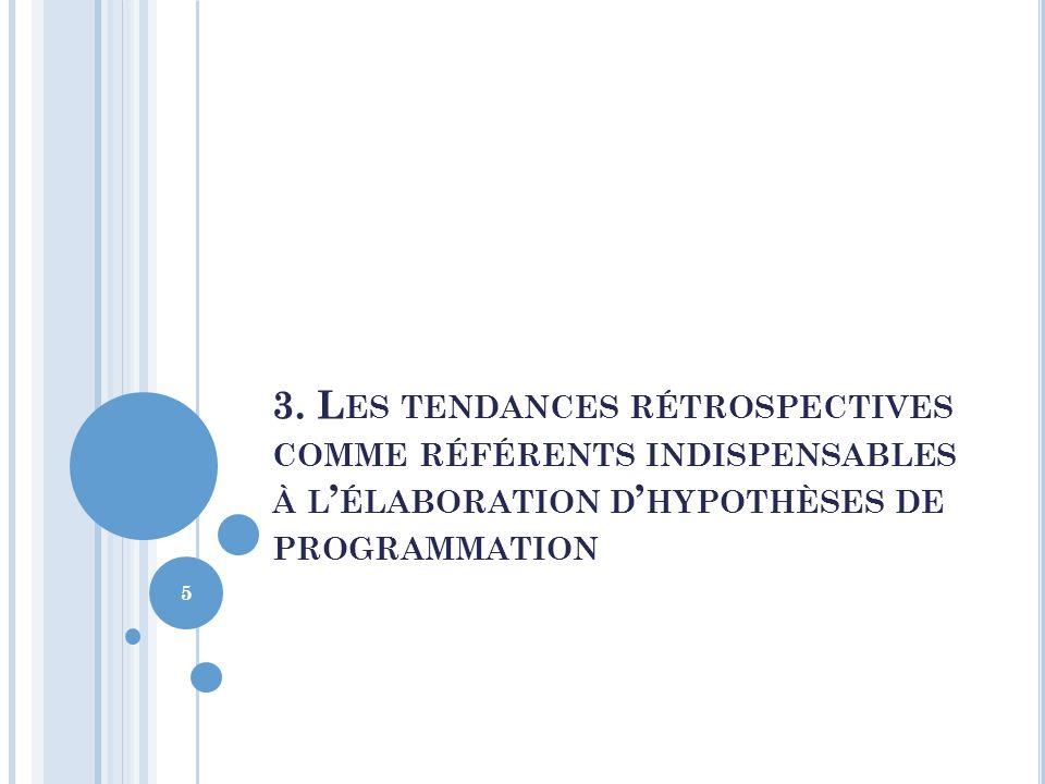 3. L ES TENDANCES RÉTROSPECTIVES COMME RÉFÉRENTS INDISPENSABLES À L ÉLABORATION D HYPOTHÈSES DE PROGRAMMATION 5