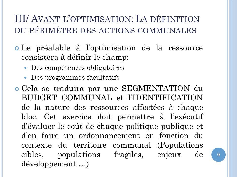 S CHÉMA ET PRINCIPES DE LA S EGMENTATION 10