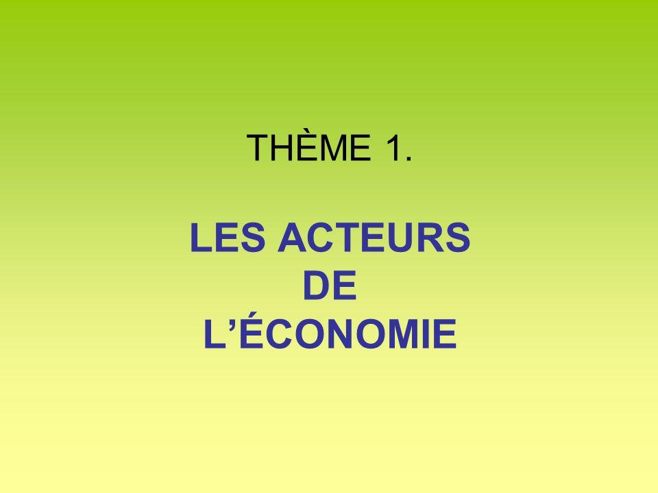 Quest-ce quun acteur économique .Quelles sont les relations entre les acteurs économiques .