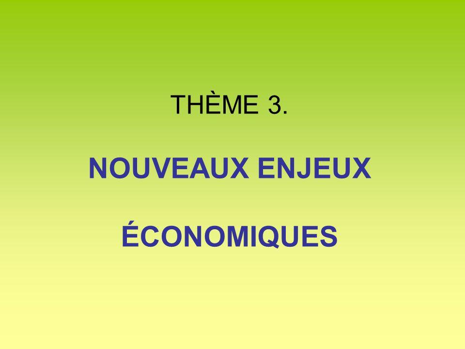 THÈME 3. NOUVEAUX ENJEUX ÉCONOMIQUES