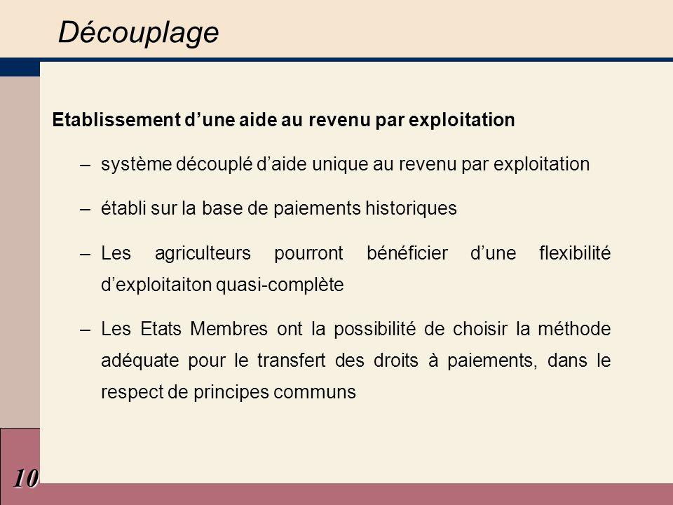 Améliorer le respect des normes Conditionnalité Loctroi de laide découplée au revenu et des autres paiements directs est subordonné au respect de normes réglementaires.