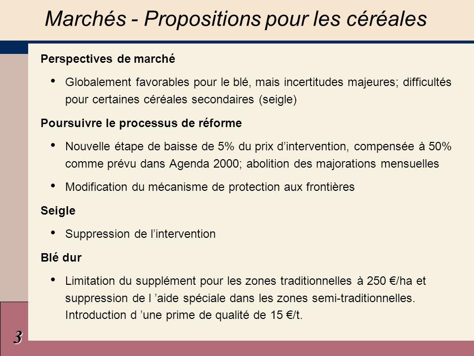4 Pas de détérioration significative du potentiel de production Marchés - Oléagineux