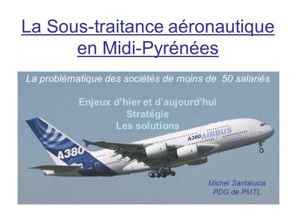 La Sous-traitance aéronautique en Midi-Pyrénées La problématique des sociétés de moins de 50 salariés Enjeux dhier et daujourdhui Stratégie Les soluti
