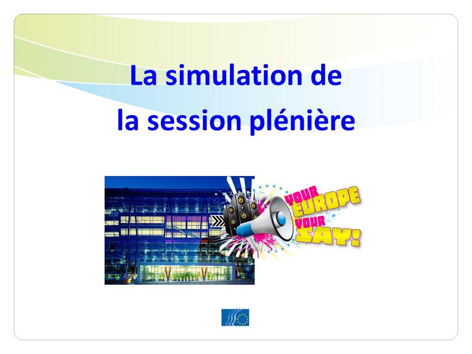 La simulation de la session plénière